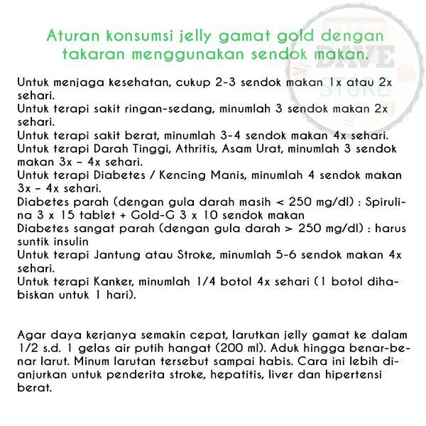 Aturan Pakai Jelly Gamat